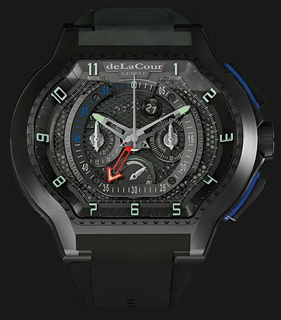 DeLaCour Genève the Mourinho City Ego Chrono Prototype titanium wrist watch