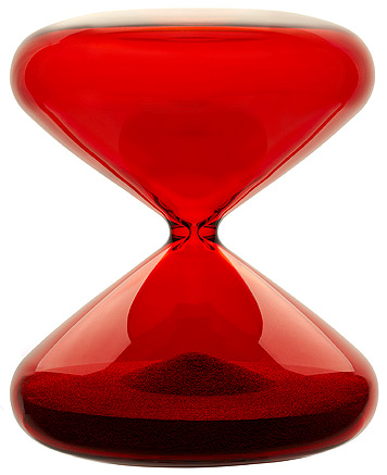 Ikepod Hourglass in Borosilicate glass designed by Marc Newson