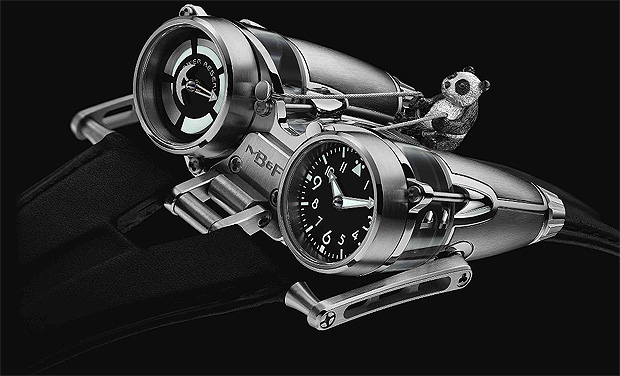 MB&F Horological Machine No.4 Thunderbolt Flying Panda 18K white gold watch