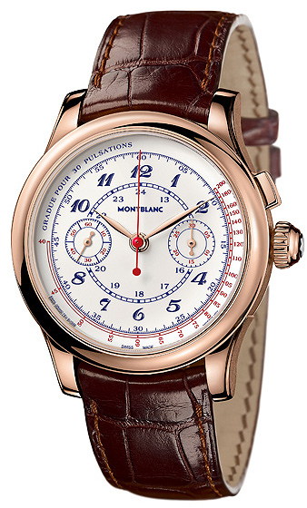 Montblanc Collection Villeret 1858 Vintage Pulsographe in 18K red gold