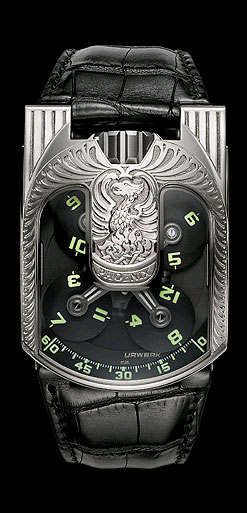 Urwerk Genève, UR-103 Phoenix 18K white gold and titanium wristwatch