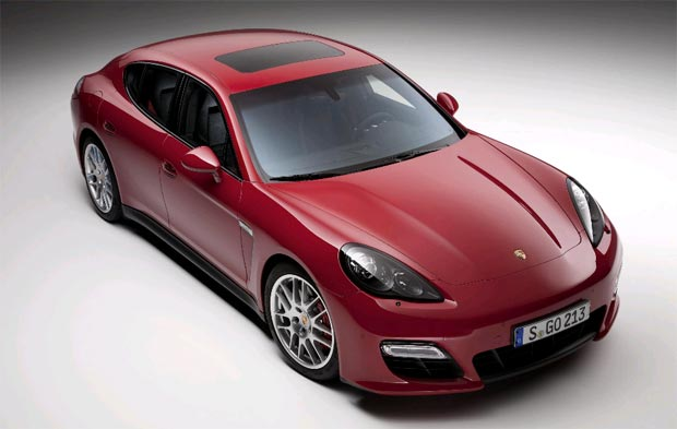 The new 2012 Porsche Panamera GTS with a 4.8-litre naturally-aspirated V8 engine