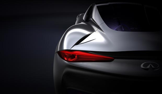 Infiniti reveals the shape of their new electric sports car concept for launch in 2013