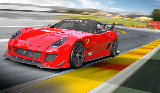 The new Ferrari 599XX car with new evolution package premieres at the Bologna Motor show