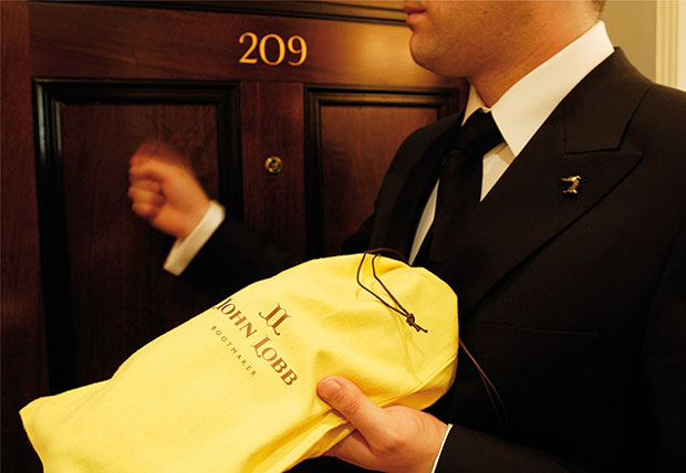 Get a John Lobb Shoe shine from a trained butler