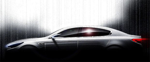 Codenamed KH, the new model is Kia's first ever rear-wheel drive sedan.