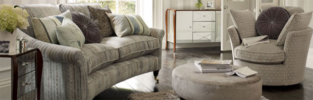 New Upholstery at Laura Ashley Combine Retro Designs With