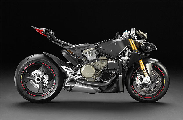 Ducati has released a long awaited naked image of the 1199 Panigale Superbike.