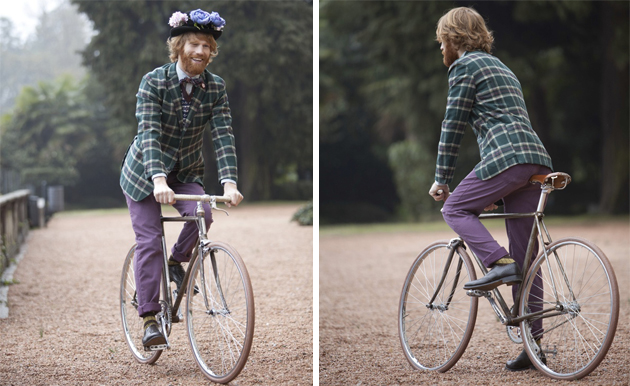 Italia Veloce wears Brooksfield at London Tweed Run 2012.