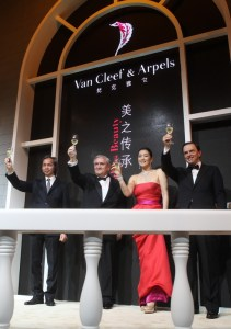 Van Cleef & Arpels unveils the Maison's largest heritage exhibition at the MOCA in Shanghai, China. - Samuel Kung, JP Raffarin, Gong LI, Stanislas de Quercize