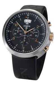 The Aspen One Downhill GT wrist watch in a titanium gold combination.