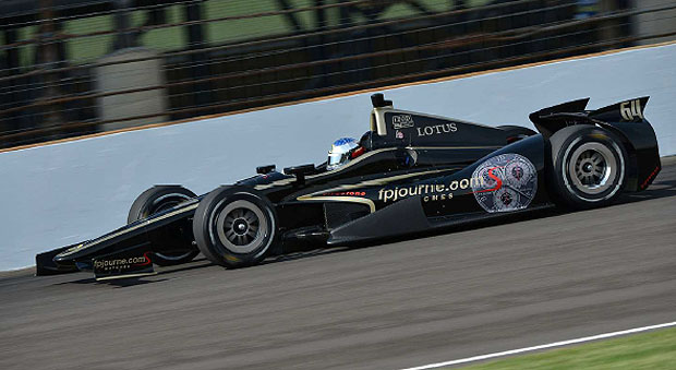 Jean Alesi passes the third phase of the Rookie Orientation Program in the FP Journe machine at Indy 500.