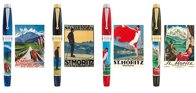 The Montegrappa's St. Moritz pen collection captures the true spirit of St. Moritz.
