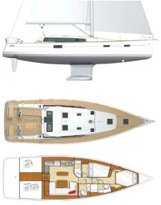 Beneteau Sense 46 Yacht Provisional Specifications: