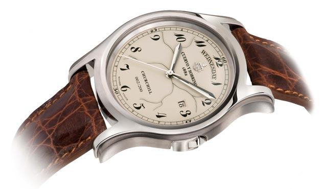 CUERVO Y SOBRINOS - Robusto Day-Date Winston Churchill limited edition watch.