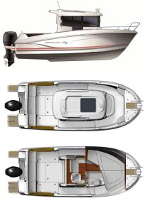Beneteau Barracude 7 Provisional Specifications: