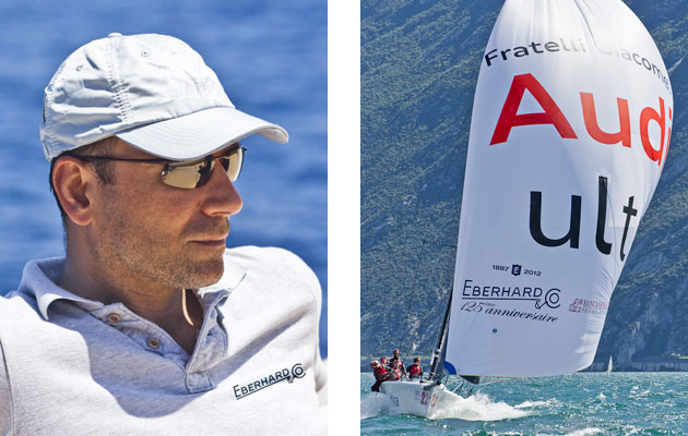 Eberhard & Co. is a partner of Audi Italia Sailing Team, and the 125th Anniversary logo of the Bienne Maison will be proudly exhibited on the sails of the three Melges 20, 24 and 32 for the whole 2012 sailing season. Eberhard & Co. is also the Official Timekeeper of the Audi Sailing Series circuit.
