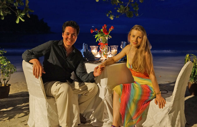 Our visit to Pangkor Laut Resort brought home how well the YTL Hotels group does luxury holidays. Paul and Natasha Godbold at Emerald Bay.