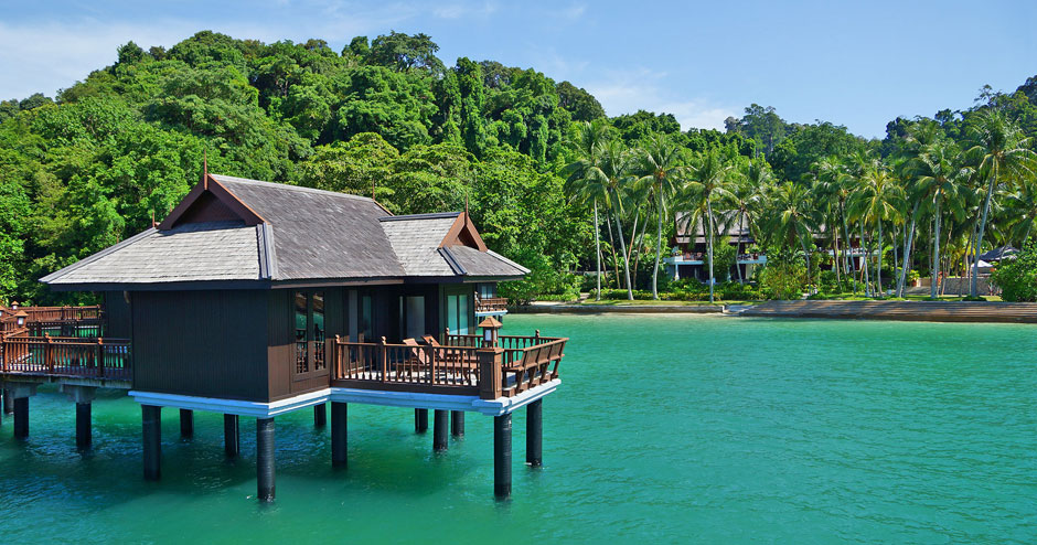 One of the stunning Sea Villas at Pangkor Laut Resort