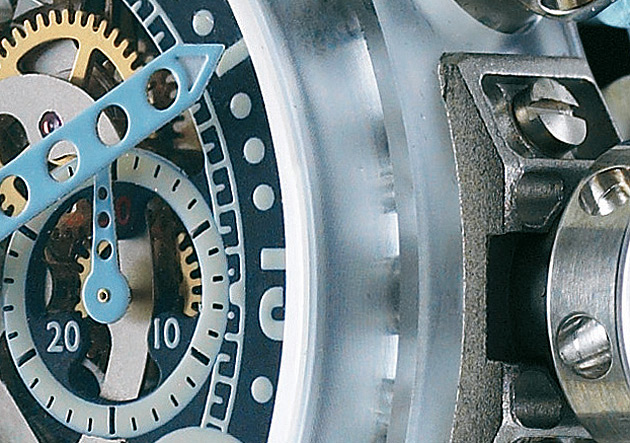 Streamlined design and the use of Titanium, Fortal® HR, Makrolon® and Inox 316 result in a new weight record for the BRM MK-44 watch of just 48.80 grams (1.72 oz).