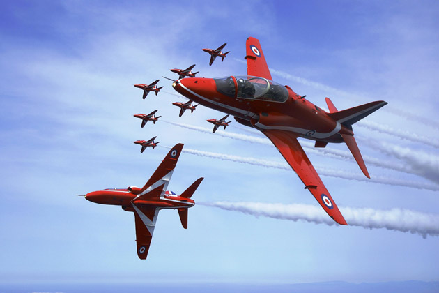 Cotswold Airport in Kemble will welcome the Red Arrows back to their former home on August Bank Holiday weekend, Sunday 26th to Monday 27th, when the world famous Royal Air Force aerobatic display team will continue their patriotic season at the inaugural Best of British Show.