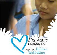 An awareness raising initiative to fight human trafficking and its impact on society. The Blue Heart Campaign seeks to encourage involvement and inspire action to help stop this crime. The campaign also allows people to show solidarity with the victims of human trafficking by wearing the Blue Heart.