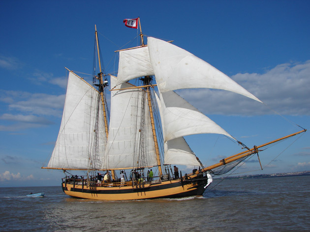 The glamorous superyachts at Gibraltar's Ocean Village will have competition on their hands in the shape of HMS Pickle.