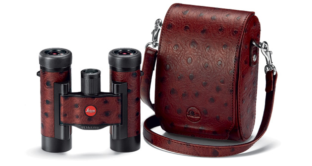 On the optics side of the business, Leica took the covers off a special limited edition of its high-performance compact binoculars, the Leica Ultravid 8x20 and 10x25 BL, featuring a stunning, hand-crafted trim in chestnut brown, natural calfskin with an ostrich-style embossed pattern.