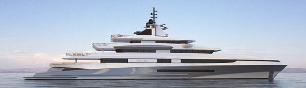 The Helios 288 feet Super Yacht. Designed by Horacio Bozzo Design to accomodate 12+2 Guests and 29 Crew.
