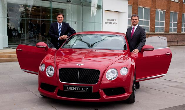 Dr Wolfgang Schreiber, Bentley Chairman and Chief Executive, today welcomed David McAllister, Prime Minister of Lower Saxony, to Bentley's Crewe headquarters.