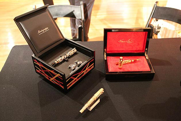 Montegrappa display its entire collection at The Luxury Review, including, the $1million Centennial Dragon Pen.
