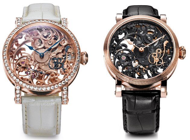 Feminine Dreams by the masters of skeletonized watches, Grieb & Benzinger.