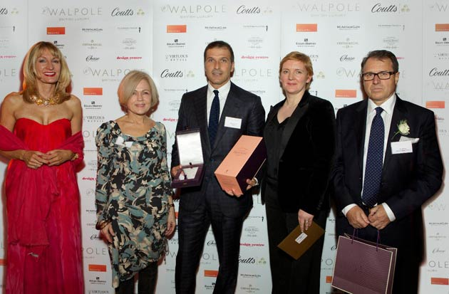 Ferrari is proclaimed as the Best International Luxury Brand 2012 at the 2012 Walpole Awards for Excellence.