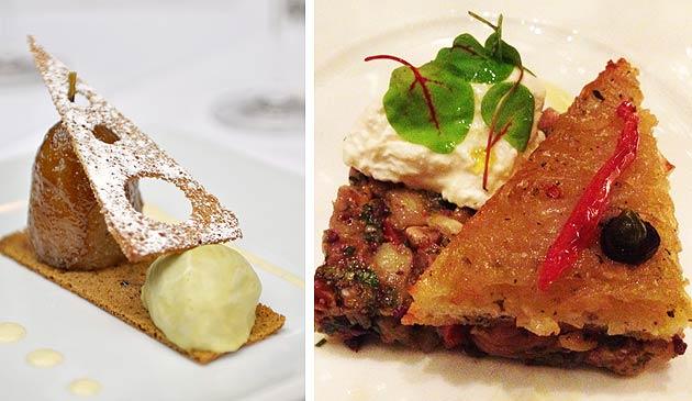 Roasted William pear and Sicilian Aubergine & Fig Caponata