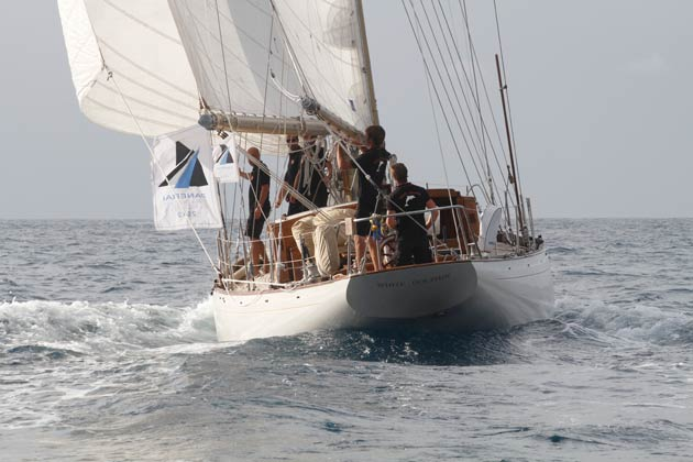White Dolphin claimed victory in the Panerai Transat Classique 2012, the spectacular transatlantic race for classic and vintage yachts organised by the Atlantic Yacht Club and sponsored by Officine Panerai.
