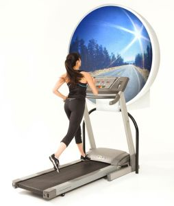 A fitness company has launched an innovative way of making running literally out of this world. Dubbed an 'Imax for the treadmill,' the ZONE dome by Running Unlimited takes the indoor sport to another level.