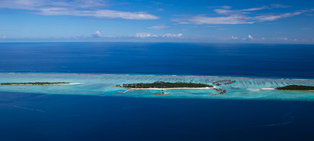 The new 'Maalifushi by COMO' property will be reached by a 50-minute seaplane ride from the Maldives's main airport at Malé.