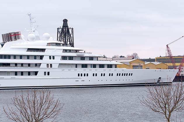 The yacht's precise specifications also remain shrouded in mystery, but it is certain to boast all of the lavish facilities you would expect on a yacht that cost a cool £400 million to build.