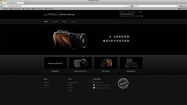 Hasselblad have launched a website dedicated to the Lunar: www.hasselblad-lunar.com