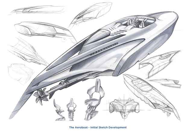 The designers are planning to build a limited edition of 10 Aeroboats tailored to the personal requirements of each client, spanning from the cockpit layout and interior trim to the engine specifications and exterior finishes.