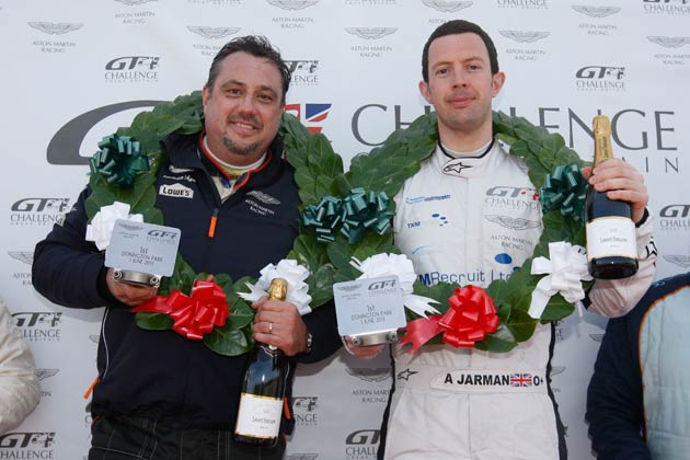 Andrew Jarman and Olivier Bouche secured their second victory of the 2013 Aston Martin GT4 Challenge of Great Britain