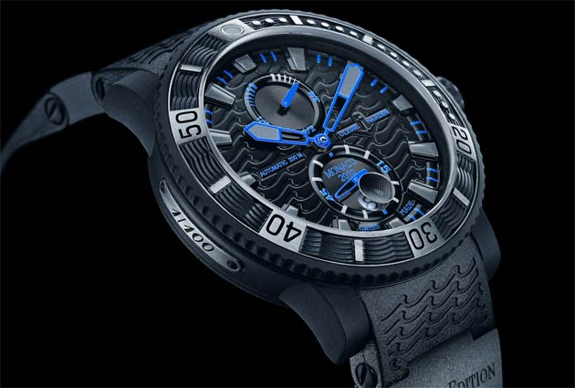 Recently Ulysse Nardin has manufactured a series of exquisite timepieces showcasing the sublime enamel cloisonné technique. These watches all display a meticulous attention to detail, as does the more rugged Black Sea.