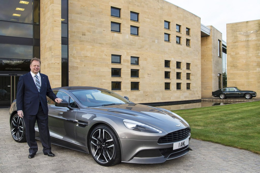 David Richards at Aston Martin, Gaydon.