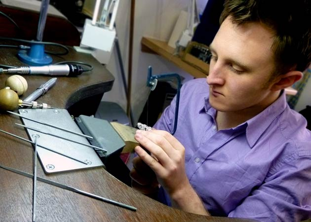 Fully immersed in his craft, his scholarship will enable him to learn and develop the traditional art of hand engraving from one of the UK's leading craftsmen
