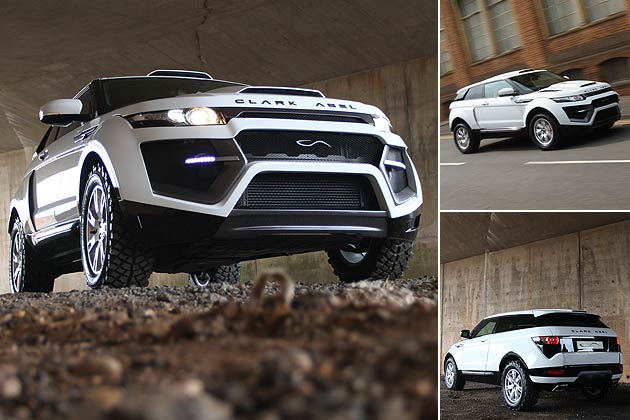 Clark Abel unleash the Dakar Evoque