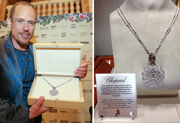 "Chopard was the ""presenting partner"" of the AIDS Solidarity Gala 2014 in Vienna"