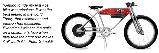 Ace Electric Motorbikes with the added bonus of Americana retro styling