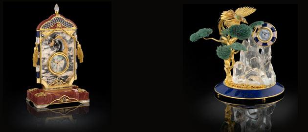 Royal Insignia Phoenix desk clock and Black Stallion