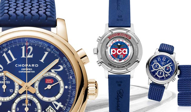 The Chopard Mille Miglia limited edition timepice for the Porsche Club of America