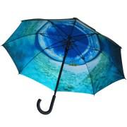 Where I'd rather be Maroned at Sea classic umbrella